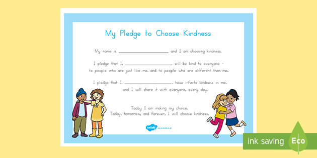 My Pledge To Choose Kindness Certificate  Choose Kindness Within Fresh Kindness Certificate Template 7 New Ideas Free