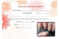 Nail Salon Gift Certificates | Certificate Templates, Gift inside Best Nail Salon Gift Certificate