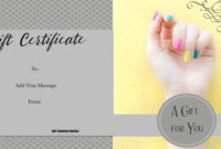 Nail Salon Gift Certificates Free Nail Salon Gift intended for Nail Salon Gift Certificate Template
