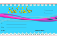 Nail Salon Gift Voucher Template Free 1 In 2020 | Voucher throughout Unique Free Printable Manicure Gift Certificate Template