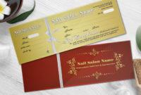 Nail Spa Gift Certificate & Envelope Nsd-Gct150 throughout Best Nail Salon Gift Certificate