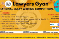 National Essay Writing Competitionlawyers Gyan: Register for Essay Writing Competition Certificate 9 Designs