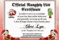 Naughty & Nice List | Jewels Art Creation | Naughty, Naughty throughout Best Free 9 Naughty List Certificate Templates