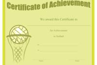 Netball Achievement Certificate Template Download Printable for Best Netball Achievement Certificate Template