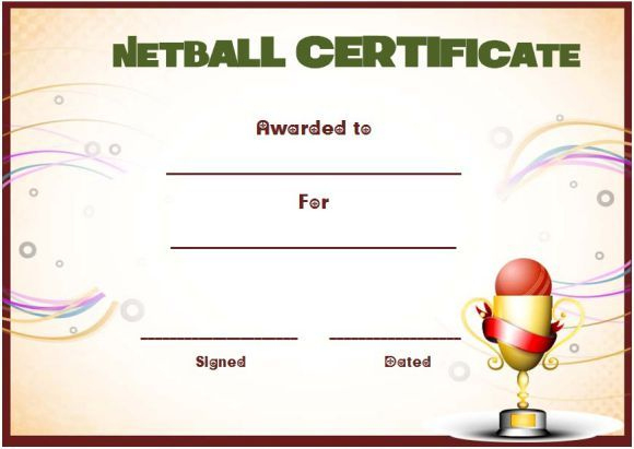 Netball Award Certificate Template | Awards Certificates with Fresh Netball Achievement Certificate Editable Templates