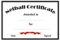Netball Certificates | Netball, Award Template, Free for Netball Certificate Templates
