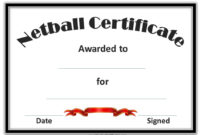 Netball Certificates | Netball, Award Template, Free within Netball Certificate