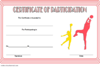 Netball Participation Certificate Template Free 2 Di 2020 throughout Netball Participation Certificate Templates