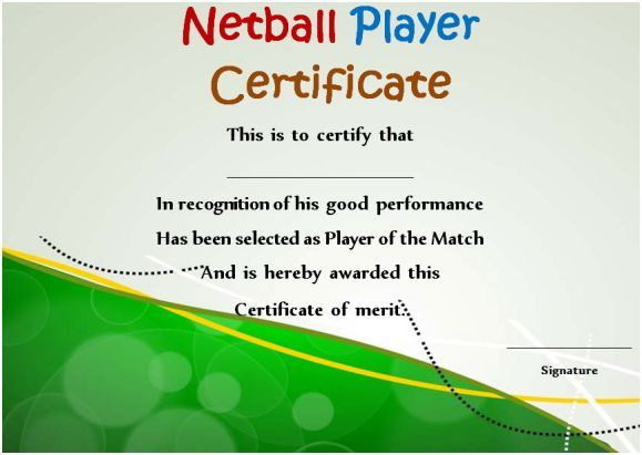 Netball Player Certificate | Certificate Templates Intended For Netball Certificate
