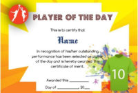 Netball Player Of The Day Certificate Template | Certificate inside Netball Certificate Templates