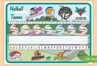 Netball Teams New South Wales Desk Mat (Teacher Made) for Fresh Netball Certificate Templates Free 17 Concepts