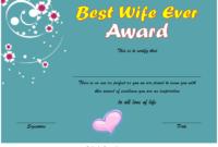 New Best Wife Certificate Template Free 1 In 2020 in Best Best Wife Certificate Template