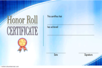 New Honor Roll Certificate Template Free 3 In 2020 regarding Honor Roll Certificate Template Free 7 Ideas