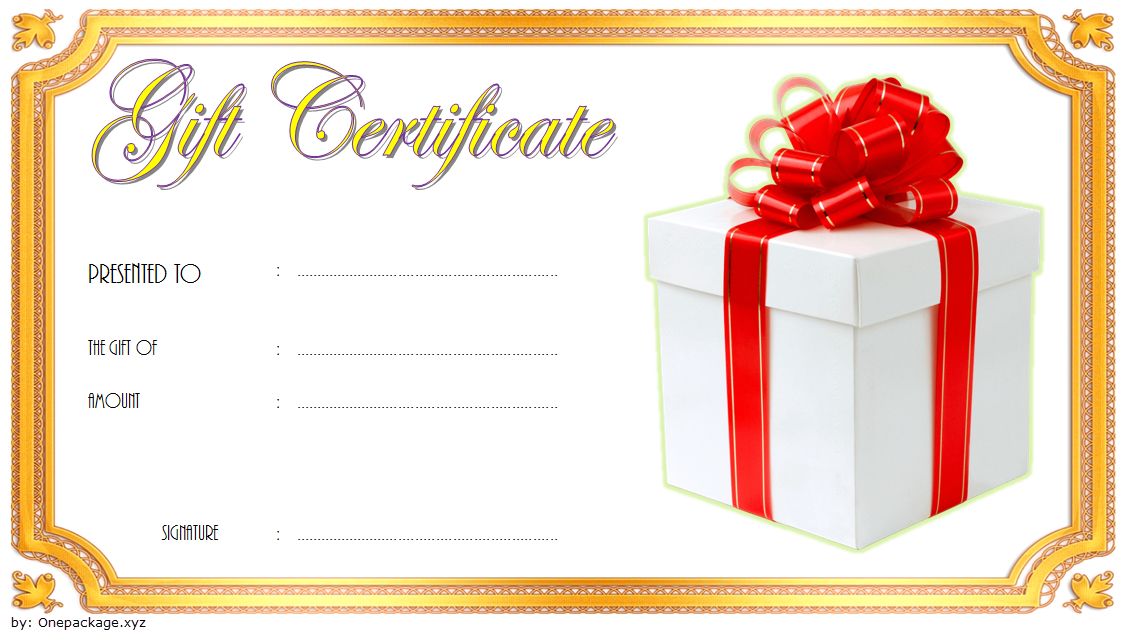 New Year Gift Certificate Template Free 3 In 2020 | Gift regarding Fresh Happy New Year Certificate Template Free 2019 Ideas