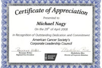 Nice Editable Certificate Of Appreciation Template Example for Certificate Of Recognition Template Word
