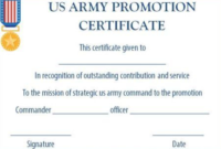 Officer Promotion Certificate Template (2) – Templates intended for Unique Job Promotion Certificate Template Free