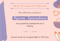 Online Best Dressed Certificate Certificate Template | Fotor inside Best Best Dressed Certificate Templates
