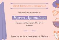 Online Best Dressed Certificate Certificate Template | Fotor with Fresh Best Dressed Certificate