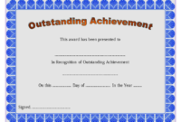 Outstanding Achievement Certificate Template Free Printable intended for Outstanding Achievement Certificate