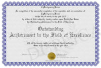 Outstanding-Achievement-In-The-Field-Of-Excellence with regard to Outstanding Achievement Certificate