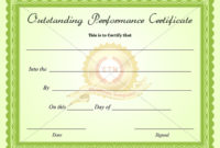 Outstanding-Performance-Certificate-Green-Business within Fresh Outstanding Performance Certificate Template