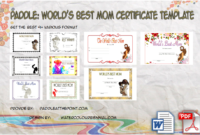 Paddle Certificate – Part 4 pertaining to Fresh Worlds Best Mom Certificate Printable 9 Meaningful Ideas