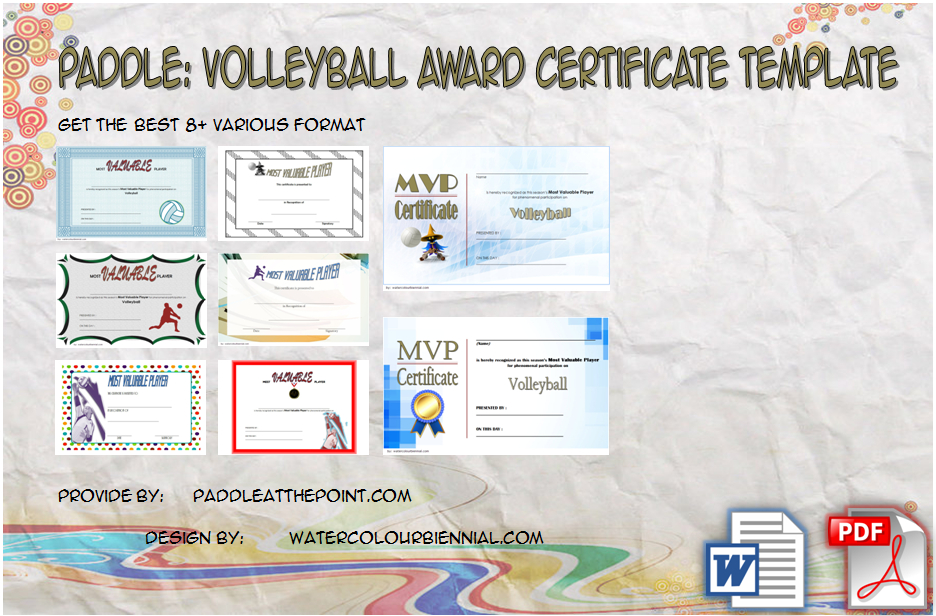 Paddle Certificate - Part 6 Intended For Volleyball Tournament Certificate 8 Epic Template Ideas