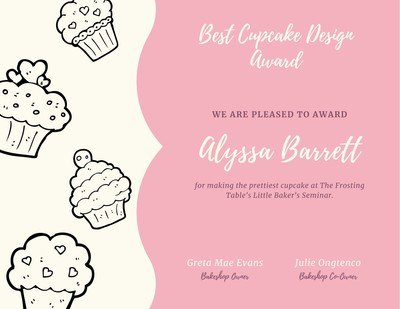 Page 5 - Free Certificates Templates To Customize | Canva In Cupcake Certificate Template Free 7 Sweet Designs