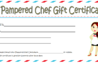 Pampered Chef Gift Certificate Template Free 2 In 2020 pertaining to Chef Certificate Template Free Download 2020