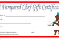 Pampered Chef Gift Certificate Template Free 3 In 2020 intended for Unique Certificate Of Cooking 7 Template Choices Free