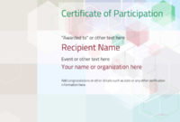 Participation Certificate Templates – Free, Printable, Add intended for Participation Certificate Templates Free Printable