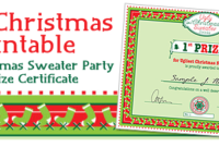 Party Simplicity Free Christmas Printable Ugly Christmas with regard to Best Free Ugly Christmas Sweater Certificate Template