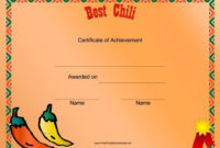 Party -Western Theme | Chili Cook Off, Cook Off, Chilli Cookoff with Fresh Chili Cook Off Certificate Templates