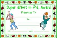 Pe Award Certificates with regard to Unique Pe Certificate Templates