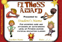 Pe Awards- 15 Physical Education Certificates | Education within Unique Pe Certificate Templates