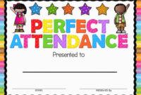 Perfect Attendance Award | Attendance Certificate, Perfect with regard to Perfect Attendance Certificate Template Editable