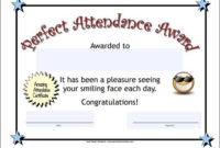 Perfect Attendance Certificate | Attendance Certificate in Fresh Perfect Attendance Certificate Template Free