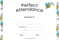 Perfect Attendance Certificate Template Download Printable throughout Fresh Perfect Attendance Certificate Template Free
