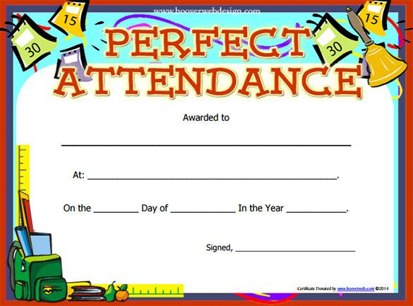 Perfect Attendance Certificate Template | Free Printable with regard to Fresh Printable Perfect Attendance Certificate Template
