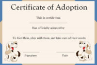 Pet Adoption Certificate Template: 10 Creative And Fun for Pet Adoption Certificate Template