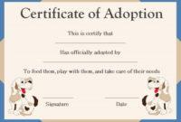 Pet Adoption Certificate Template: 10 Creative And Fun with regard to Fresh Dog Adoption Certificate Template