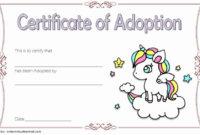 Pet Adoption Certificate Template Free Fresh Pretty Fluffy pertaining to Best Unicorn Adoption Certificate Free Printable 7 Ideas
