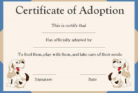 Pet Adoption Certificate Template   Pet Adoption Certificate pertaining to Best Dog Adoption Certificate Editable Templates