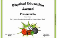 Physical Education Awards And Certificates – Free pertaining to Best Physical Education Certificate Template Editable