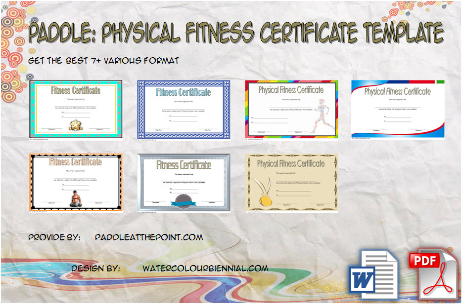 Physical Fitness Certificate Templates - Free 7+ Best Ideas for Fresh Physical Fitness Certificate Template 7 Ideas