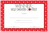 Pin Di Free Ugly Christmas Sweater Certificate Template pertaining to Best Free Ugly Christmas Sweater Certificate Template