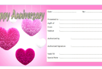 Pin On Anniversary Gift Certificate Template Free inside Best Anniversary Gift Certificate
