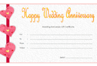 Pin On Anniversary Gift Certificate Template Free intended for Anniversary Gift Certificate Template Free