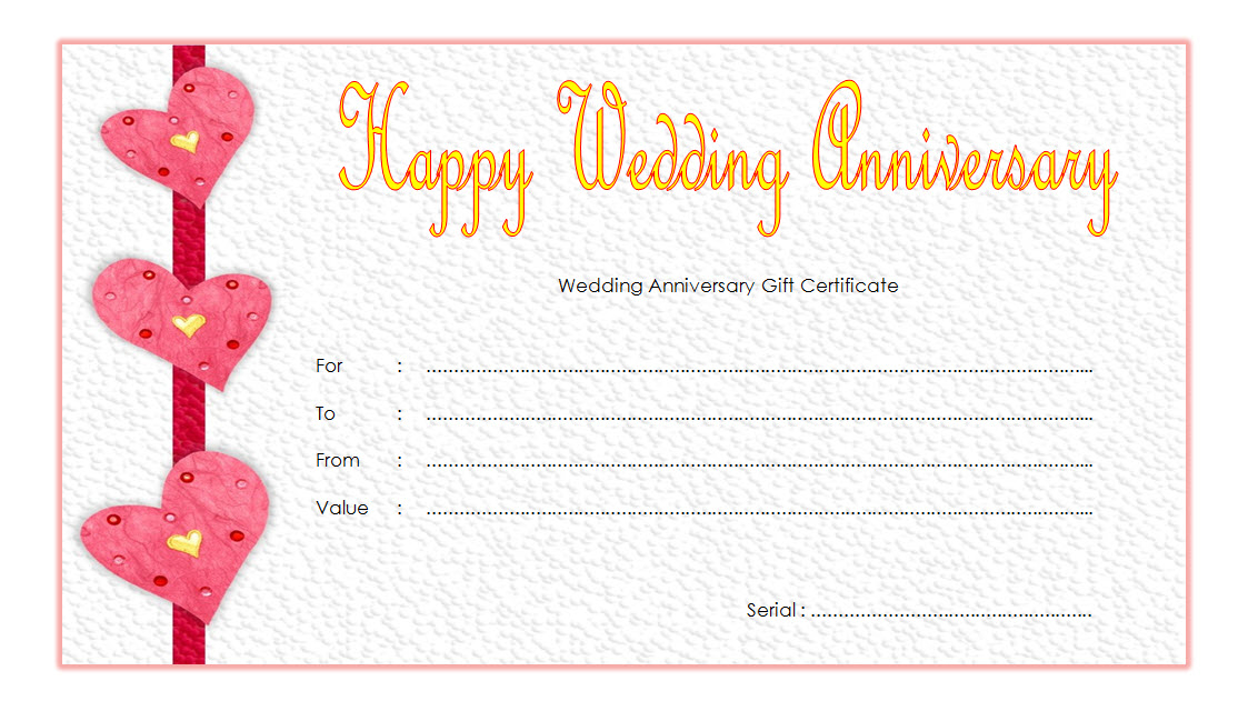 Pin On Anniversary Gift Certificate Template Free pertaining to Best Anniversary Gift Certificate