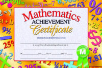 Pin On Awards with Math Achievement Certificate Templates